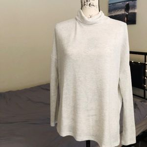 NWT LUCKY BRAND IVORY TURTLE NECK TOP